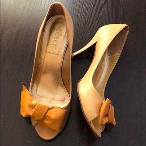 JCrew Leather heels